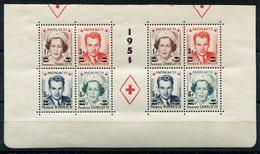 RC 11380 MONACO N° 334A / 337A CROIX ROUGE 1949 EN PROVENANCE DU BLOC DENTELÉ COTE 160€ NEUF ** - Monaco
