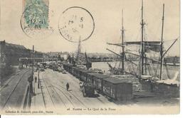 44 Nantes Quai De La Fosse Carte Animee - Nantes