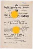 MORESNET ( Plombières ) SOCIETE ROYALE  HARMONIE 1948 - Programmes