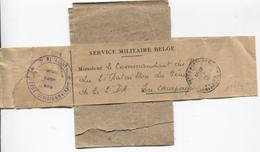 AP1553/ Manchon Imprimé Service Militaire Belge 7° De Ligne C.PMB-BLP 1916 V.Militaire Bataillon Génie 2° DA - Weltkrieg 1914-18