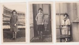 26784 Trois 3 Photo Etterbeek Belgique -avril 1928 -fille Femme Elisabeth - Lieux