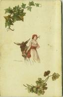BOMPARD SIGNED POSTCARD 1920s - WOMAN & DONKEY - N.670-2 ( BG90) - Bompard, S.