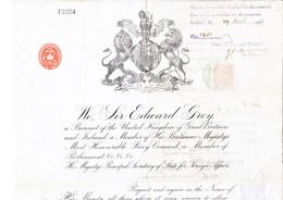 1907 Britischer Reisepass, Passagierschein; Stempel Des Rumänischen Konsulats Des Österreichischen Ungarischen Konsulats - Gebührenstempel, Impoststempel