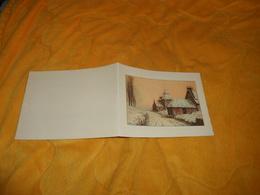 BELLE CARTE 2 VOLETS NON CIRCULEE DATE ?.../ ILLUSTRATEUR A IDENTIFIER ?...PAYSAGE SOUS LA NEIGE.. - Illustrators & Photographers