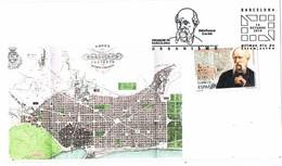 31357. Tarjeta BARCELONA 2010. Urbanismo Plan Cerda, Plano Barcelona - 1931-Hoy: 2ª República - ... Juan Carlos I