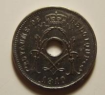Belgium 5 Centimes 1910 Varnished - 1909-1934: Albert I