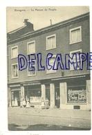 Belgique Waremme. La Maison Du Peuple. édit. Frémal Chevalier. Animée. 1909 - Borgworm