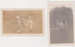 26785 Deux 2 Photo Strichon Villers La Ville Belgique - Septembre 1924 -enfant - Lieux