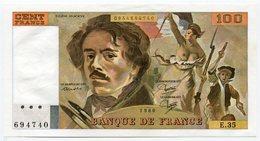 RC 11381 FRANCE 100F DELACROIX 1980 NEUF - 1962-1997 ''Francs''