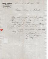1876 - CHALON-sur-SAÔNE - BRASSEUR - André WURGLER - 1800 – 1899
