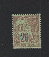 Faux Timbre Nossi-Bé N° 9a 5 C Sur 20 C Alphée Dubois Gomme Sans Charnière - Nossi-Bé (1889-1901)