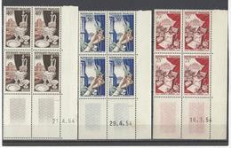 FRANCE  YT  Coins Datés  N° 972-973-974  Neuf **  1954 - Coins Datés
