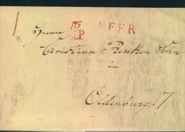 """1815, Faltbrief Mit Rotem L1 """"JEVER"""" Mit Beigesetztem Datum Nach Oldenburg. - Oldenburg"""