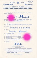 MORESNET ( Plombières ) SOCIETE ROYALE  HARMONIE 1958 - Programmes