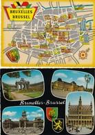 12255 -  N°. 9 CARTOLINE BRUXELLES-BRUSSEL - BELGIO - FG - Monumenti, Edifici