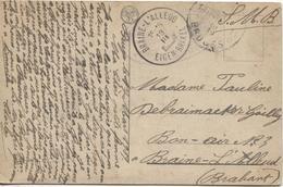 AP1555/ CP Bruges Le Beffroi S.M.B C.Bruges 1919 V.Braine L'Alleud C.d'arrivée - Guerre 14-18
