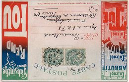 L'absinthe Rend Fou - L'acool Abrutit, L'alcool Ruine, L'alcool Tue (Union Française Antialcoolique) - Cartes Postales