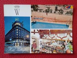 SPAIN POSTAL CARTE POSTALE POST CARD POSTCARD HOTEL WELLINGTON MADRID CALLE VELÁZQUEZ ESPAÑA ESPAGNE VISTAS VER FOTO Y D - Hoteles & Restaurantes
