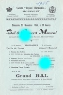 MORESNET ( Plombières ) SOCIETE ROYALE  HARMONIE 1955 - Programmes