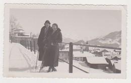 26789 Photo Suisse Montana  1931 Femme Neige - Lieux