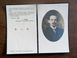 Doodsprentje   PIERRE-  HUBERT - HENRI   REEBER   Dé .... à FOREST 1928 - 1914-18