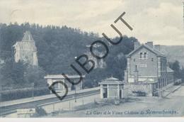 Postkaart-Carte Postale  SOUGNE-REMOUCHAMPS La Gare Et Le Vieux Château De Remouchamps 1908 (L160) - Aywaille