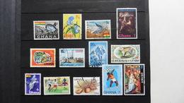 Afrique : Ghana: 13 Timbres Oblitérés - Ghana (1957-...)