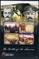 Bloc Sheet 1ere Guerre Mondiale World War 1 Somme  MNH  Neuf **  St Vincent & The Grenadines 2015 - St.Vincent E Grenadine