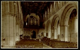 Ref 1267 - Judges Real Photo Postcard - The Nave St David's Cathedral - Pembrokeshire Wales - Pembrokeshire