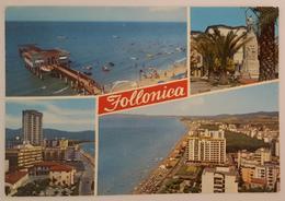 FOLLONICA (GROSSETO) - Vedutine - Spiaggia   Vg   T2 - Grosseto