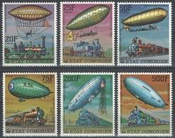 Comores - YT 179-182 + PA 121-122 ** - 1977 - Dirigeables - Zeppelins