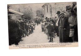CPA 09 - Montferrier - Avant Cérémonie Inauguration Monument Aux Morts - Reception Des Personnalités - Autres Communes