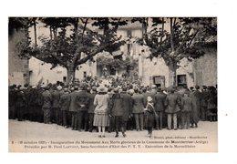 CPA 09 - Montferrier - Inauguration Monument Aux Morts - Execution De La Marseillaise - Autres Communes