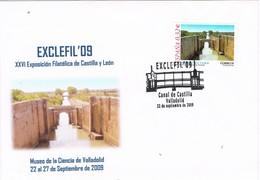 31371. Carta Exposicion VALLADOLID 2009. Canal De Castilla. EXCLEFIL 09 - 1931-Hoy: 2ª República - ... Juan Carlos I