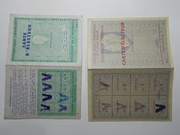 Lot 2 Documents Cartes Electeur 1958 & 1967 St MARCEL LES VALENCE (6/7) - Vieux Papiers