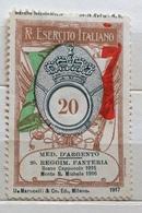 R.ESERCITO ITALIANO  MEDAGLIA D'ORO AL 20  REGG. FANTERIA  MONTE S.MICHELE ERINNOFILO MILITARE  CHIUDILETTERA - Stamps