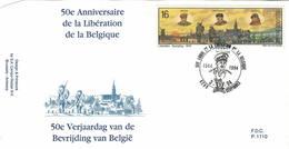 Belgique:40-45 Libération En 1944, Gerpinnes COB N° 2571 - FDC