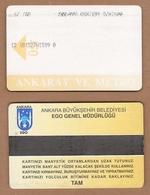 AC - SUBWAY MULTIPLE RIDE METROCARD, BUS CARD #43 ANKARA, TURKEY - Titres De Transport