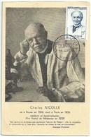 Célébrités - Charles Nicolle Né à Rouen - Prix Nobel - Carte Premier Jour - Prix Nobel