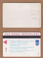 AC - SUBWAY MULTIPLE RIDE METROCARD, BUS CARD #44 ANKARA, TURKEY - Titres De Transport