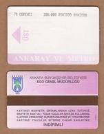 AC - SUBWAY MULTIPLE RIDE METROCARD, BUS CARD FOR STUDENT #45 ANKARA, TURKEY - Titres De Transport