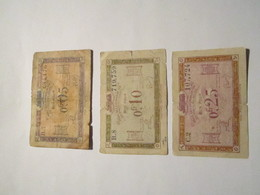 -----3 Billets Chambre Du Commerce-0,05-/-0,10-/-0,25-/-centimes Régie Des Chemins De Fer Des Territoires Occupes- - Trésor