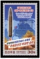 North Korea 2017 Mih. 6399 Intercontinental Ballistic Missile Hwasong-14 MNH ** - Corée Du Nord