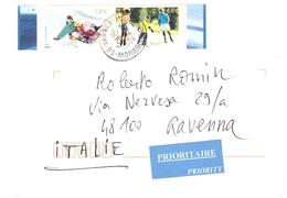 LETTERA X ITALY CON SPORT LUGE ROLLER - Francobolli