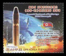 North Korea 2017 Mih. 6446 Intercontinental Ballistic Missile Hwasong-15 MNH ** - Corée Du Nord