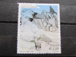 *ITALIA* USATI 2006 - MARMO DI CARRARA - SASSONE 2886 - LUSSO/FIOR DI STAMPA - 6. 1946-.. Repubblica