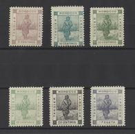 MAROC  TANGER A LARACHE  YT  N°128/133  Neuf **  (rousseur)  1898 - Postes Locales & Chérifiennes