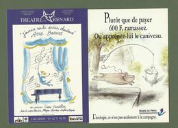 CARTES POSTALES CARTCOM SEMPE MAIRIE DE PARIS ET THEATRE DU RENARD - Sempé