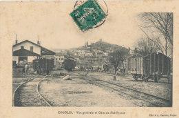83 // COGOLIN    Vue Générale Et Gare Du Sud France,   Edit Barrère - Cogolin