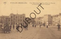 Postkaart-Carte Postale St-Gilles/ST GILLIS Place Morichar (Place De Parme) Et Ecole Moyenne De Garçons 1918 (L112) - St-Gilles - St-Gillis